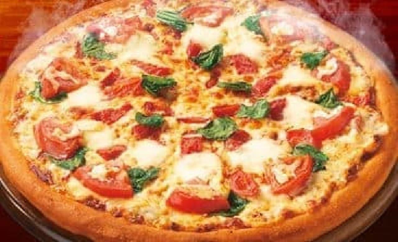 ピザの日記念!「マルゲリータ」が半額に  (出典:ピザハット)