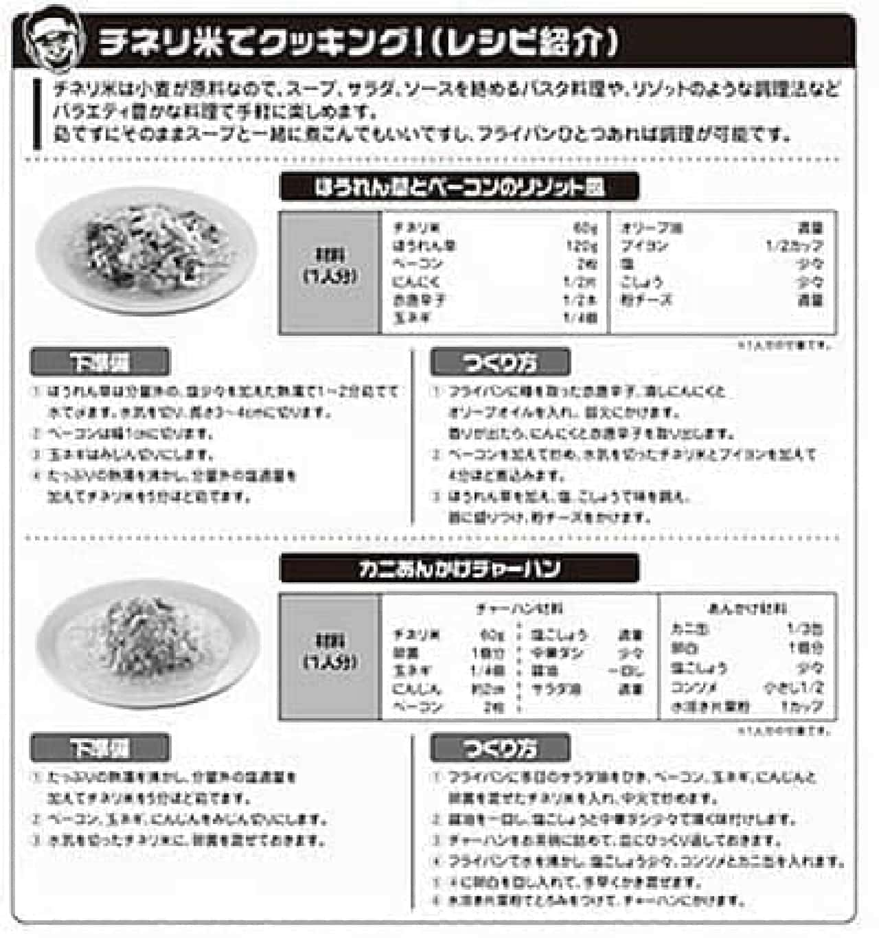 付属のレシピ