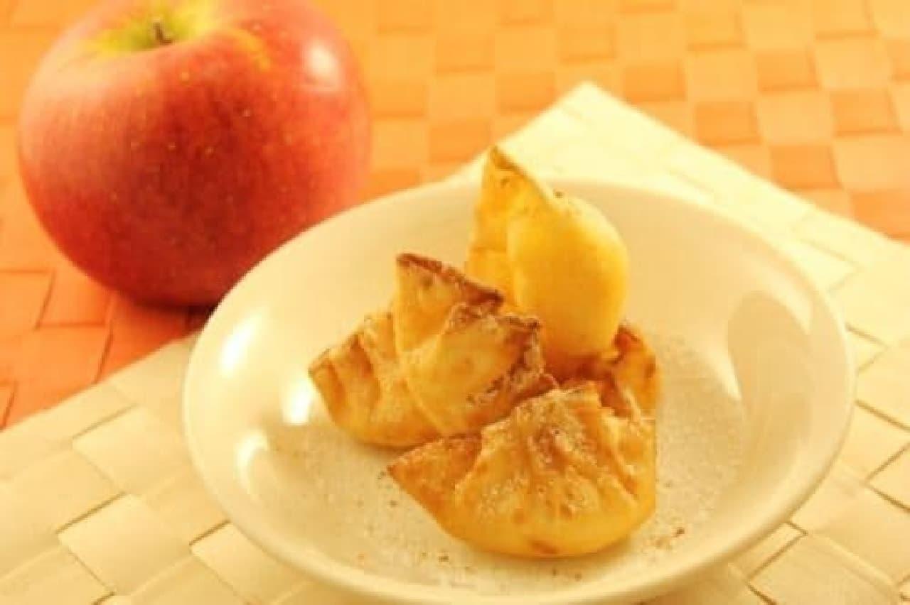 昨年販売された「餃子の皮のアップルパイ」