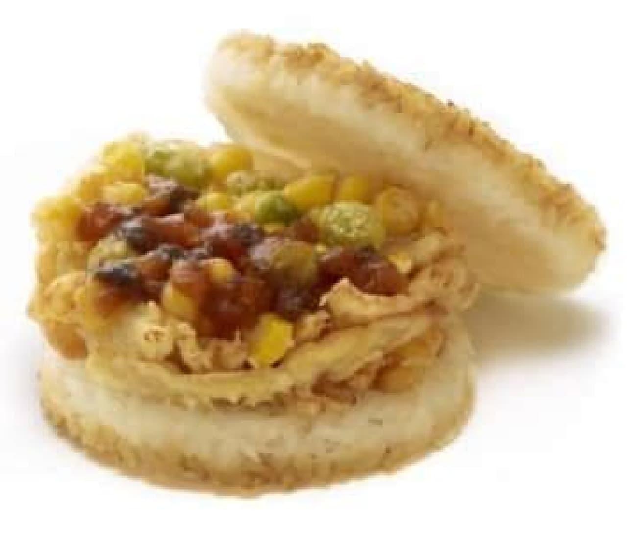 モスライスバーガー「季節の野菜かきあげ」