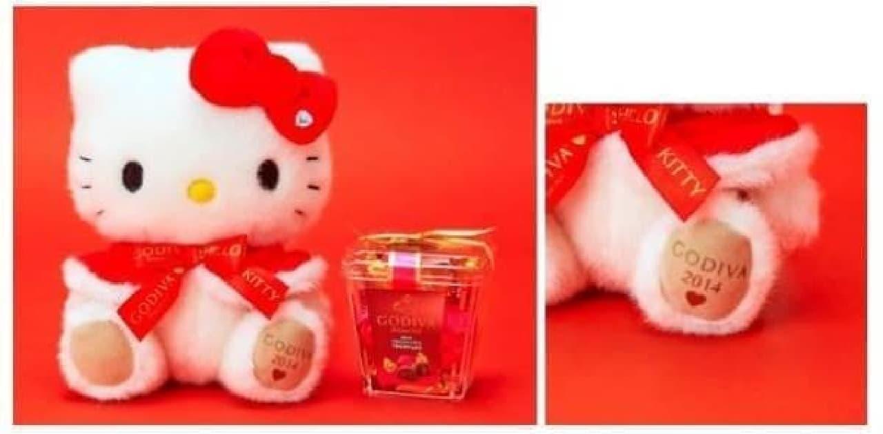 サンタさんみたいなハローキティとチョコレートのセット  (C)1976,2014 SANRIO CO.,LTD.