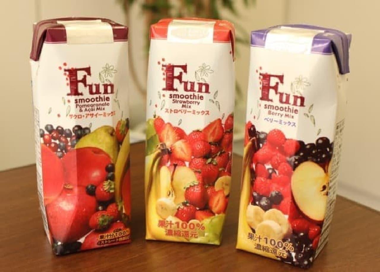 果実のおいしさを生かしたスムージー