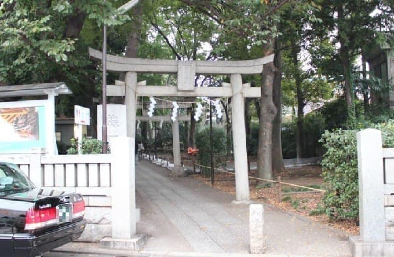 熊野神社が目の前に。ご利益ありそう!