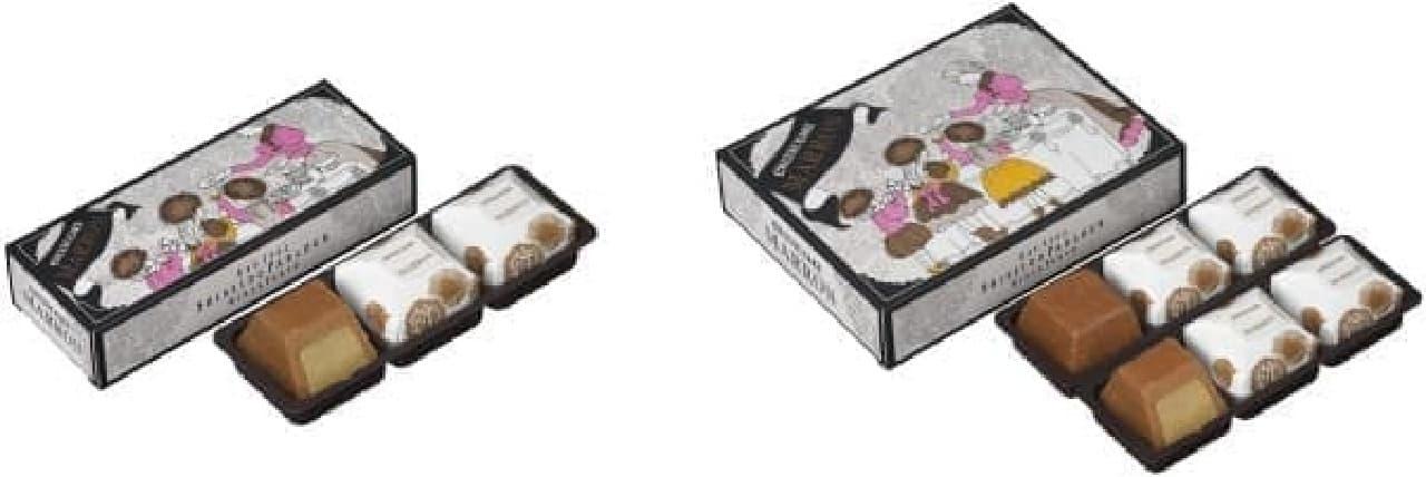 「秋のチーズケーキ(マロン)」 3個入り(左)と6個入り(右)