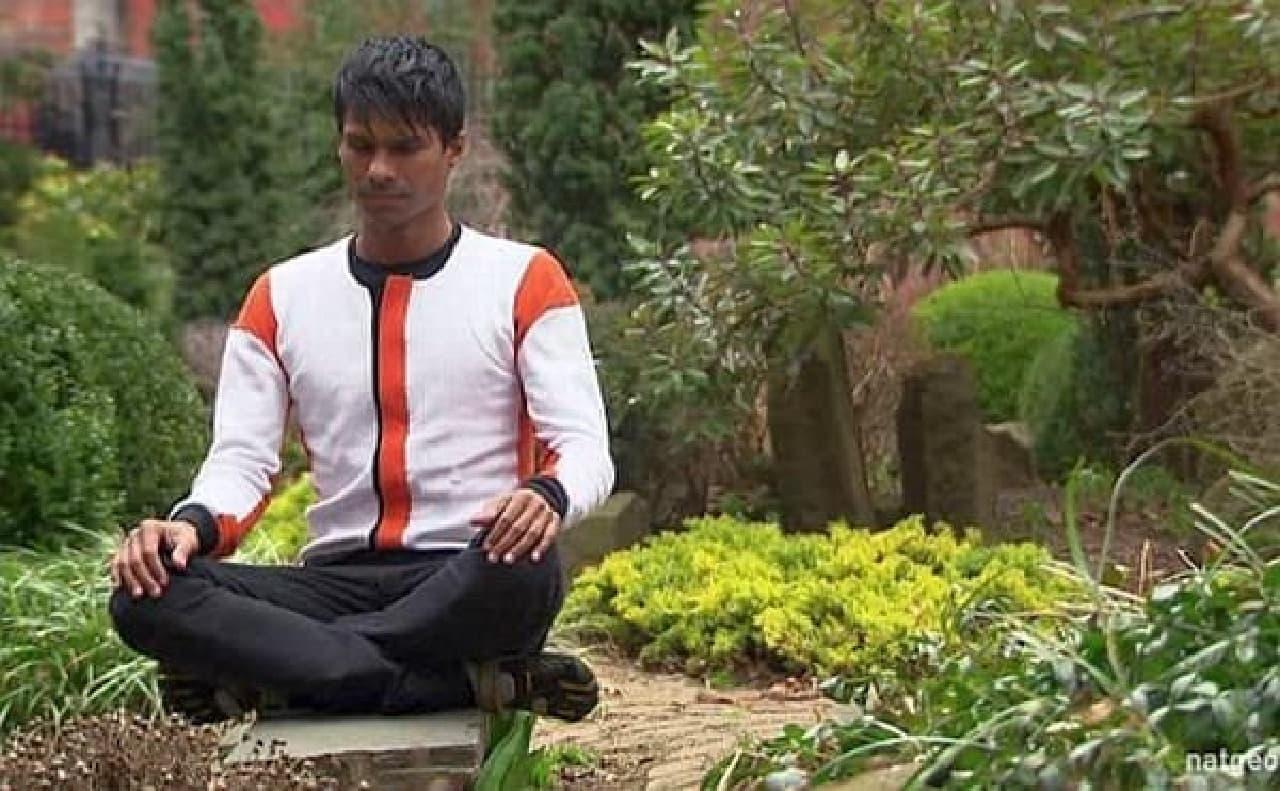 瞑想により、体の中のエネルギーセンターを開くことができるという
