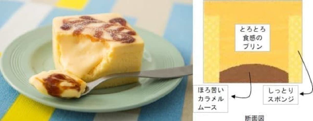 Uchi Cafe SWEETS の新商品「プレミアム 四角いプリンのケーキ」