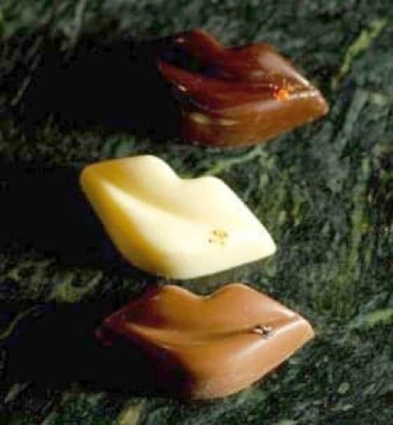 遊び心満点!の唇型チョコ