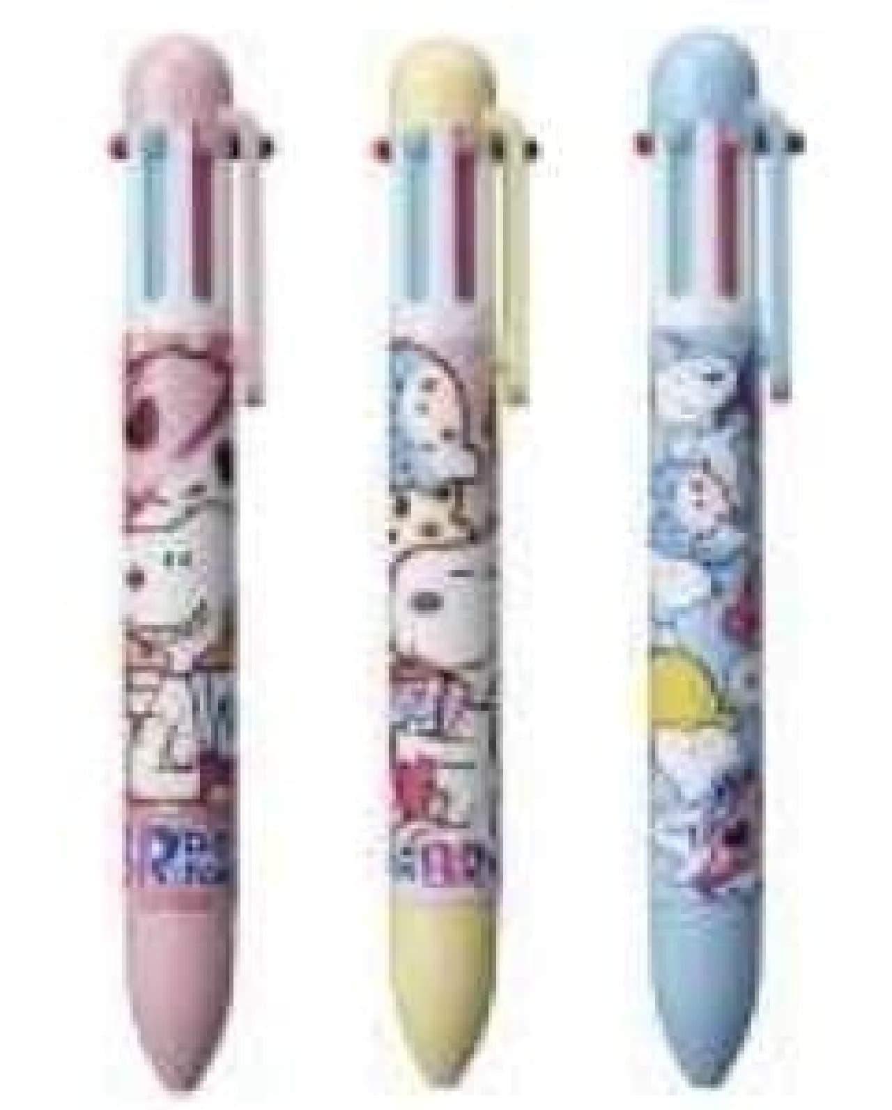 ボールペンは、ピンク、イエロー、ブルーの3色!