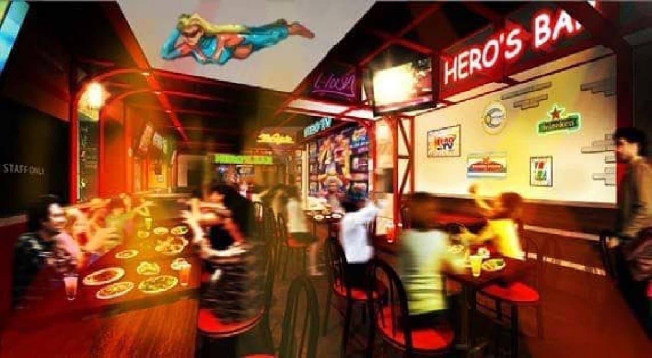作中に登場する「HERO'S BAR」が現実に!