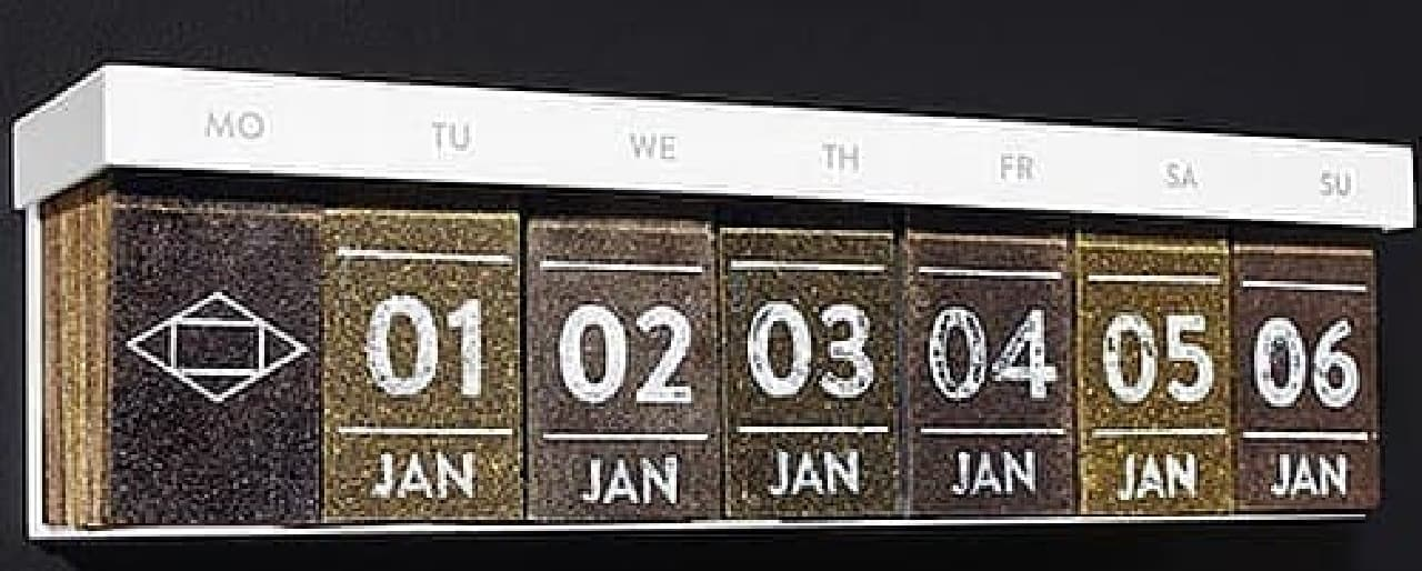 紅茶カレンダーの全景