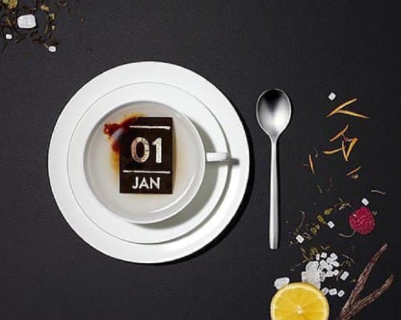紅茶の茶葉で作られた日めくりの紅茶カレンダー