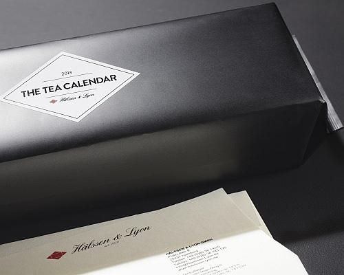 紅茶カレンダーの販促パッケージ