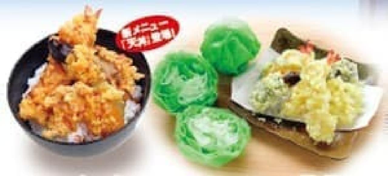 """""""天丼""""は今年から登場した新メニュー!"""