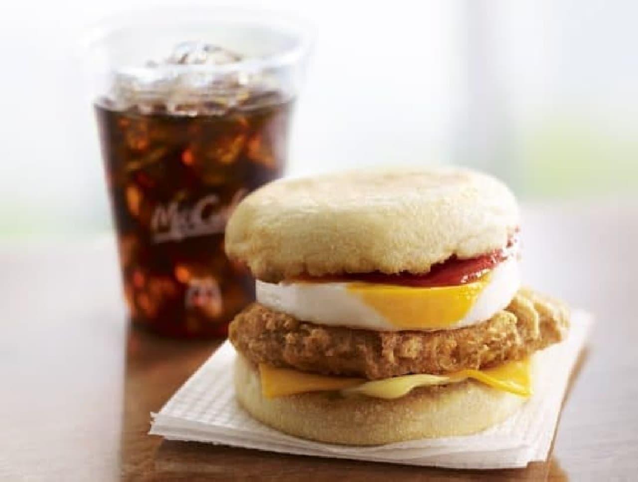 朝マックに「チキンエッグマフィン」