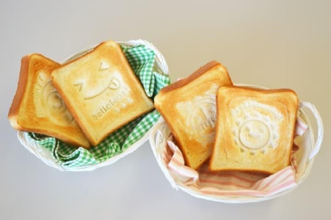 食パンや豆腐にポン!とスタンプ