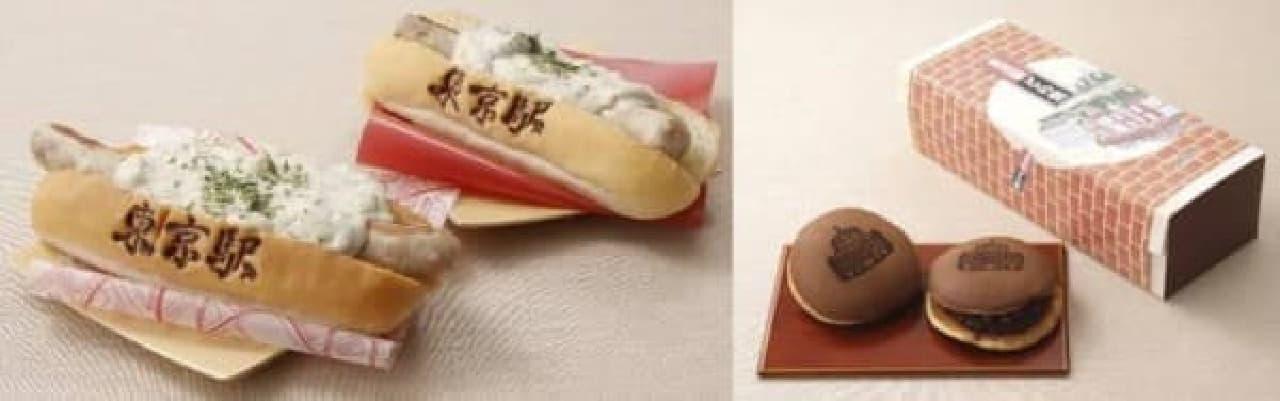 東京ドッグトリュフソース(左)、どら焼き(右)