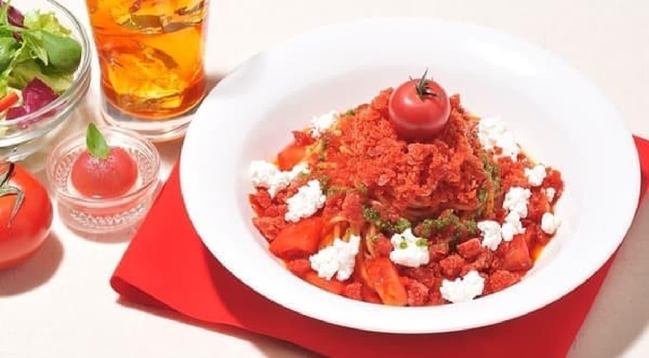 トマトの旨みがつまったかき氷のパスタ