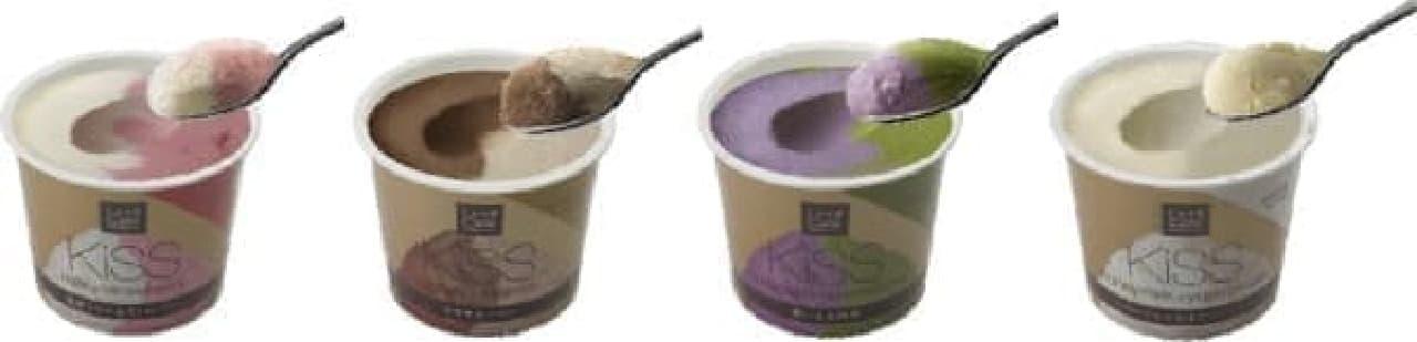 いちどに2つの味が楽しめる、ちょっと贅沢なアイス