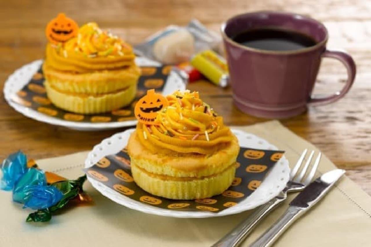 ハロウィン仕様のカップケーキ