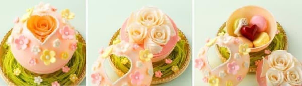 チョコボックスを開けると、中からバラやマカロンが...