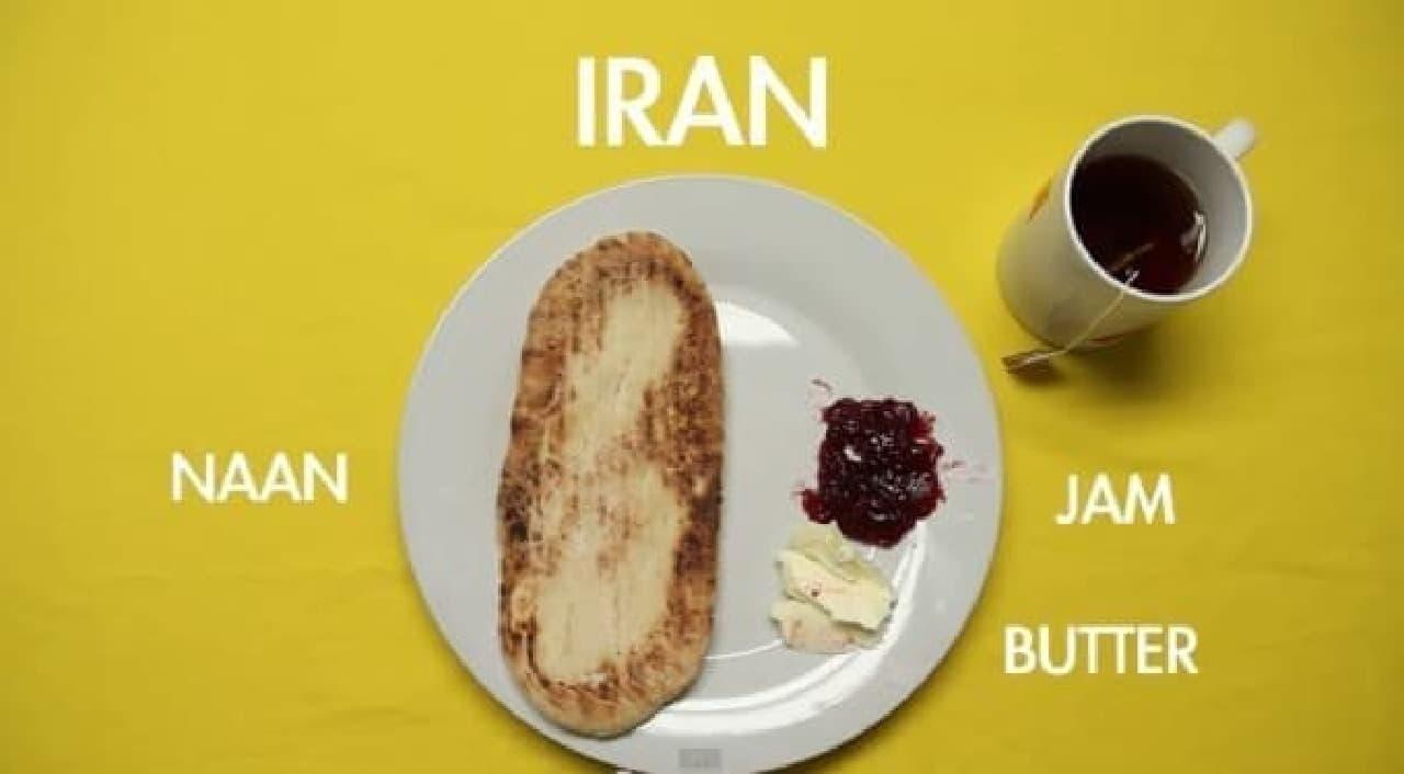 イランの朝はシンプルに、ナン!
