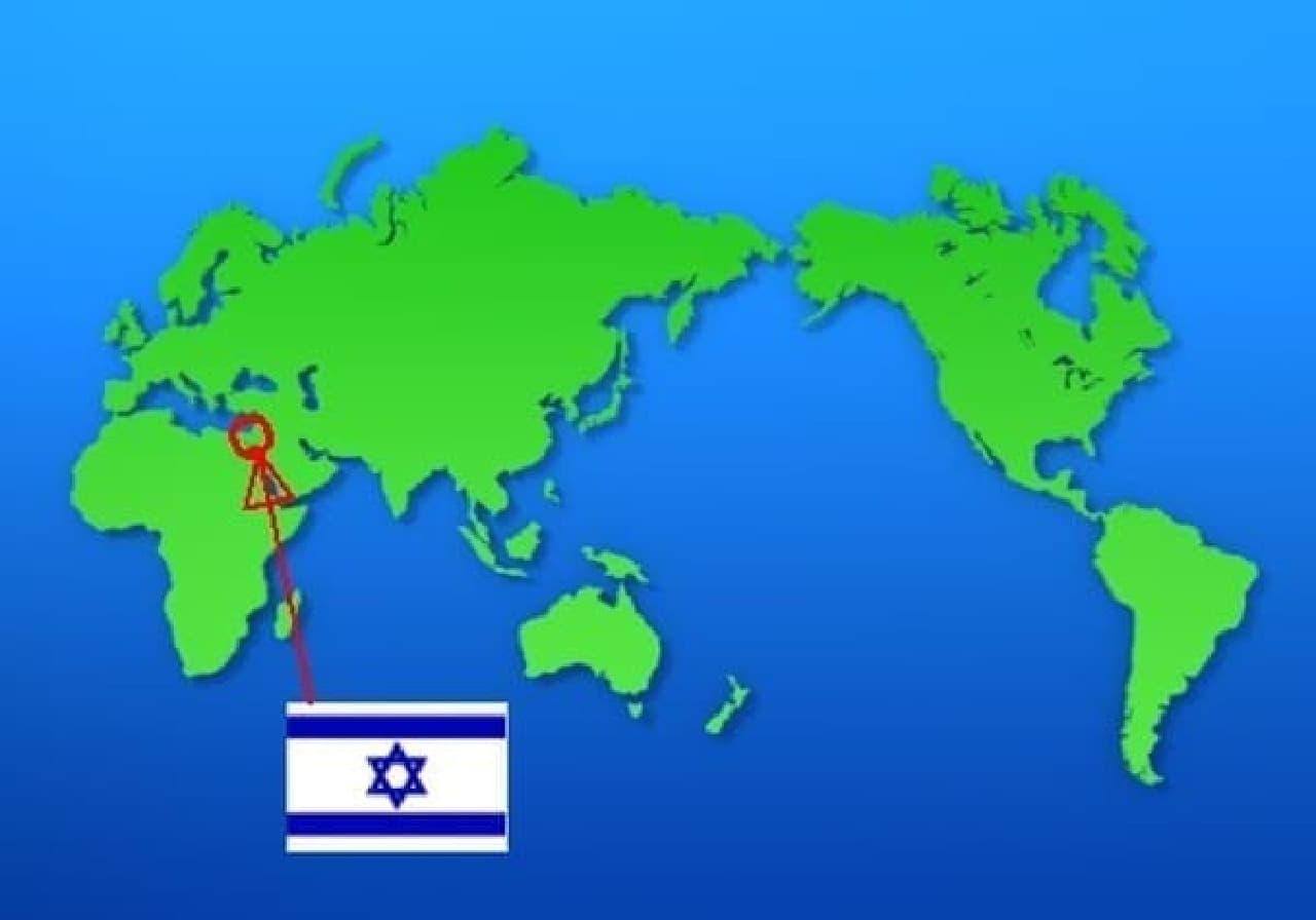 イスラエルはこのへん