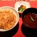 みそ汁は、名古屋らしい赤みそ(YAGOTO-TEI)