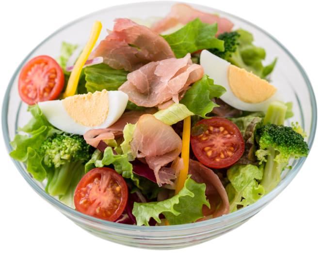 生ハムの彩りサラダ
