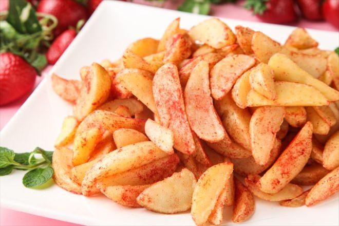いちご風味のフライドポテト