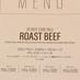 ディナーメニュー|37 Roast Beef