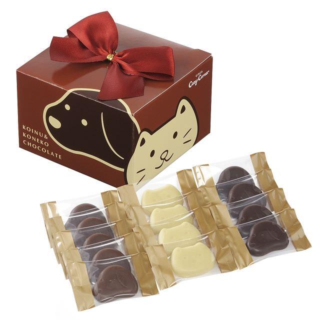 小犬と小ねこのチョコレート