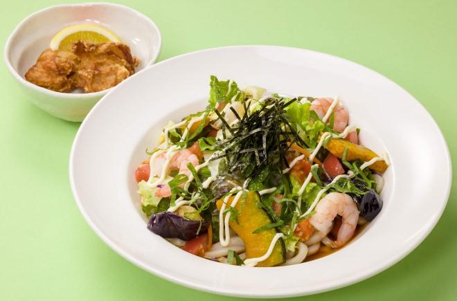 海老と10種の野菜のサラダうどん 選べるセット
