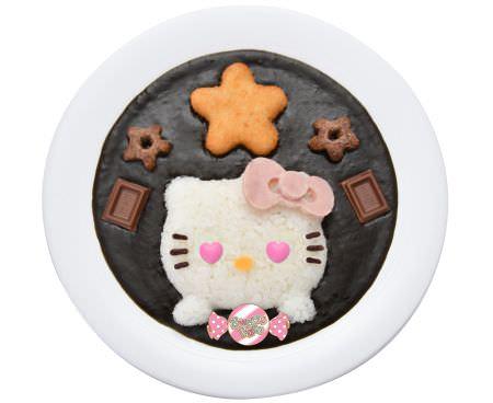 ハートフルハローキティのチョコ黒カレー
