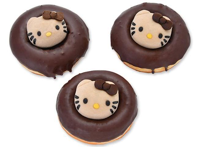 ハローキティのチョコ大福ドーナツ