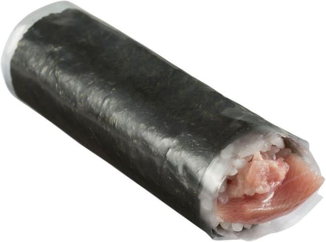 極上海苔のとろ手巻き 280円(税別)