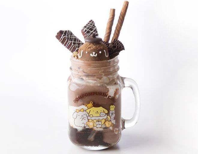 ポムポムプリンのチョコチョコショコラ♪なぷるぷるシェイクドリンク