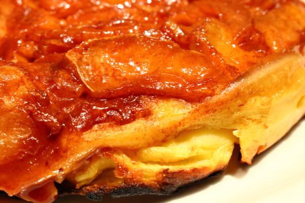 アップルパンケーキのフチ
