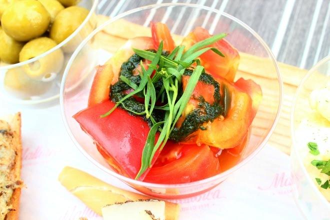 トマトと蜂蜜 シェリービネガーマリネ 宮古島バジルの香り