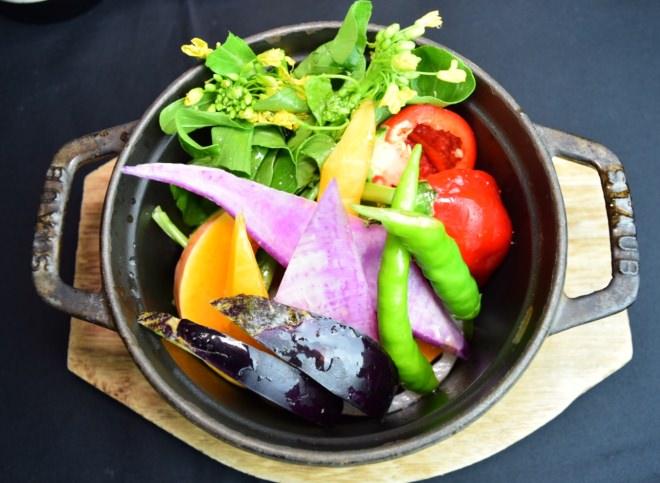 鎌倉彩の蒸し野菜 900円